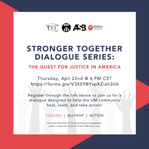 stronger together dialogue series: the quest for justice in America